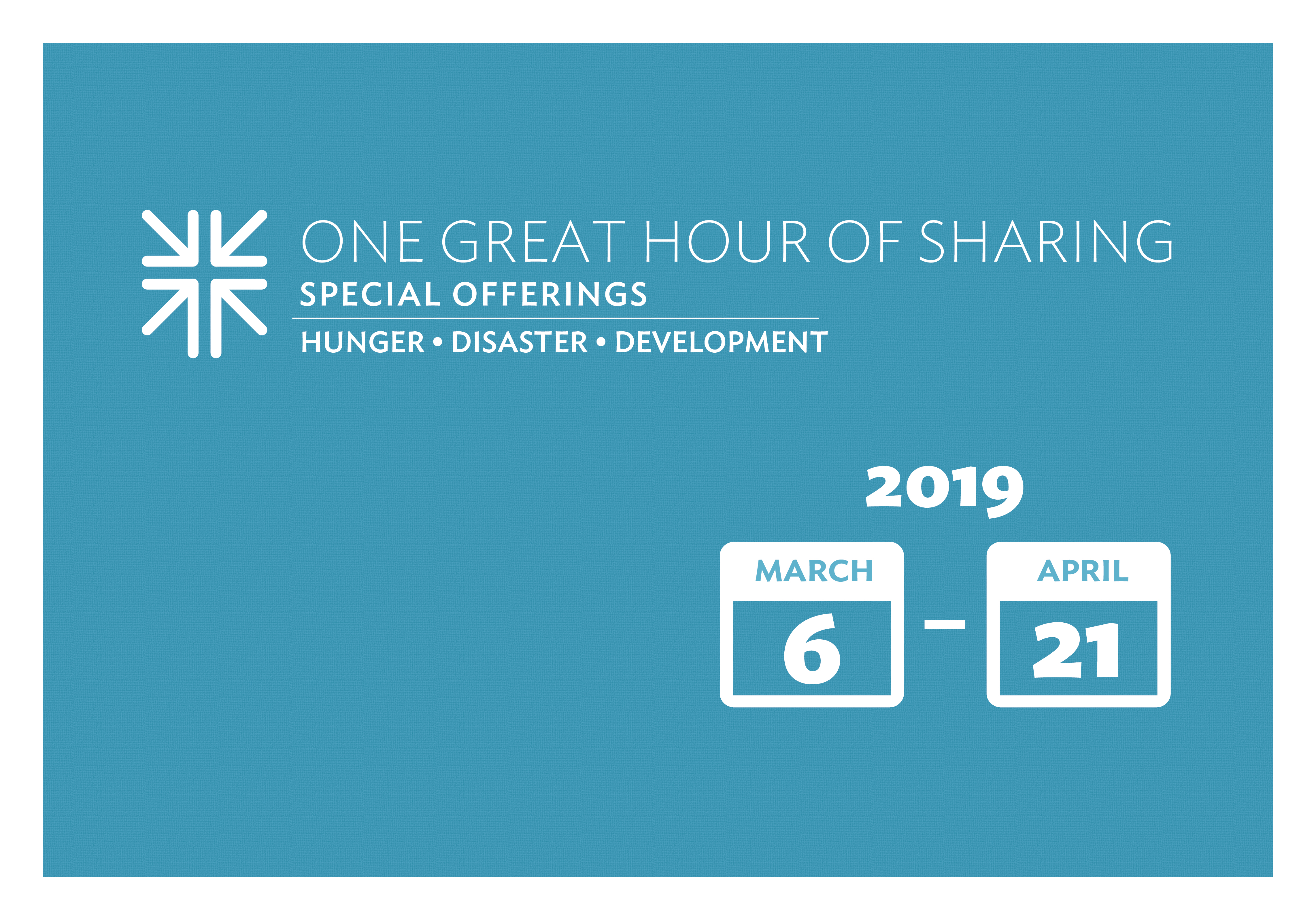 One Great Hour of Sharing 2019